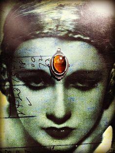 Genuine Tiger Eye Bindi by thegypsykiss on Etsy, $23.00