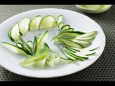 Cucumber I Simple Leaf Design - Lesson 23 By Mutita The Art Of Fruit and Vegetable Carving Video - YouTube