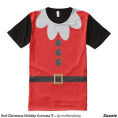 20f52c906699 Red Christmas Holiday Costume T-Shirt Funny Christmas