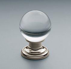 Knobs | Restoration Hardware lucite balls mad for lucite
