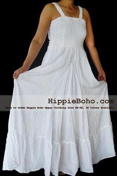 White Gauze Dress Plus Size    Size XS,S,M,L,1X,2X,3X,4X,and 5X Hippie Gypsy Boho Style