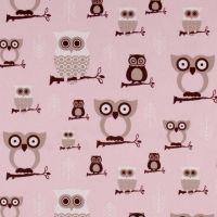 Hooty Owls by Premier Prints.too cute little owls! Pink Bird, Pink Owl, Bird Pillow, Owl Fabric, Premier Prints, Novelty Fabric, Owl Patterns, Pink Bedding, Owl Print