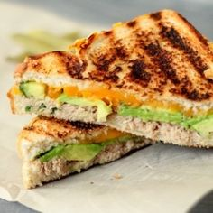 Grilled Tuna Avocado Melt HealthyAperture.com