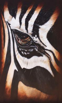 www.artofkleyn.com Zebra Pictures, Black Cat Painting, Zebra Art, Reflection Photography, Digital Pattern, Decoration, Art Projects, Pony, Bedroom Decor