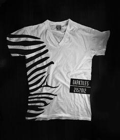 T-shirt collection 2015 Designer: Federico Poletti for Dark Tiles #darktiles #design #tshirt #art #zebra