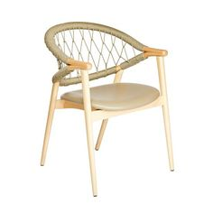 The Umami armchair with Trieste rope back features a backrest made from two curving bentwood beech pieces that combine with four legs to create a sleek and slender frame. The upholstered seat is comfortable, the rope back intriguing. The rope is woven by hand, adding an artisanal element into the mix and when paired with the light frame, makes for a truly striking rope chair. Outdoor Chairs, Outdoor Furniture, Outdoor Decor, Contemporary Dining Chairs, Fabric Suppliers, Trieste, Wood, Armchairs, Legs