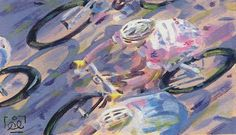 Painting the Giro: Cycling art by Rob Ijbema | www.cyclingfans.com