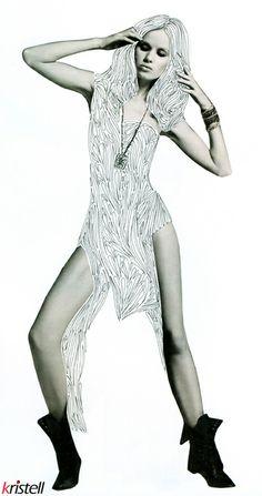 "Dessin rotring. #model #mannequin #fashion #drawing India ink. Série ""déshabillez-moi"""