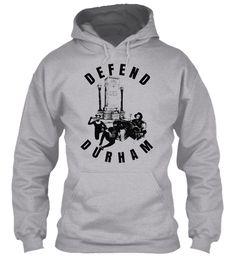Defend Durham Sport Grey T-Shirt Front