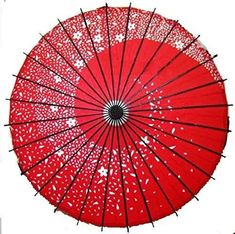 Efficacy Japonés Baile Paraguas Sakura Fubuki Color Rojo Cosplay F/S W/ , Umbrella Dance, Ladies Umbrella, Sun Umbrella, Japanese Textiles, Japanese Art, Sao Anime, Tokyo Ghoul Cosplay, Project Red, Vintage Umbrella