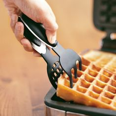 Silicone-Tipped Waffle Tongs | Williams-Sonoma  -->if get waffle maker so no two forks