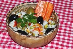 Salata de orez Andalucia #reteta #salata Salad Recipes, Dairy, Cheese, Food, Recipes For Salads, Meals, Yemek, Eten