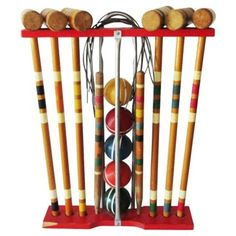 Check out this item at One Kings Lane! 1950s Croquet Set, 21 Pcs