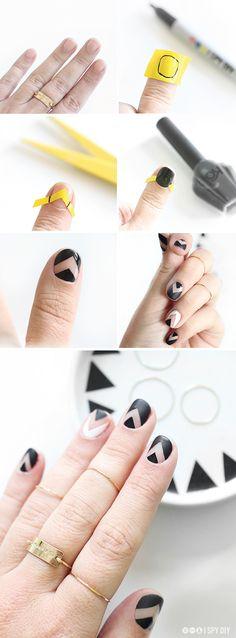 DIY   Chevron Nails   #f21beautymark