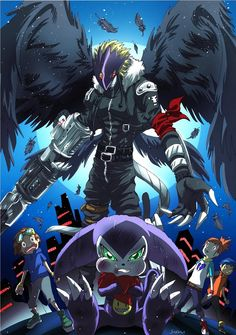 Digimon Tamers: Beelzemon Blast Mode and Impmon