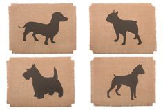 ADORABLE!  LOVE THESE!  I LOVE CANINE SILHOUETTES... And silhouettes in general...  One Kings Lane - Simrin - Set of 4 Canine Place Mats, Charcoal