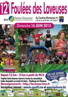 12èmes foulées des laveuses 2013 à Le Coudray Montceaux. Le dimanche 16 juin 2013 au Coudray Montceaux.