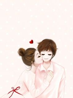 Kisses for you Love Cartoon Couple, Cute Couple Art, Cute Love Cartoons, Anime Love Couple, Cute Anime Couples, Korean Illustration, Cute Illustration, Romantic Pictures, Cute Pictures