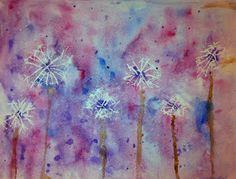 Angela Anderson Art Blog: Dandelion Watercolor - Kid's Art Class