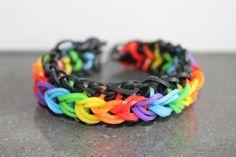 Rainbow Loom Nederlands, Raindrops armband, rondom, 1 loom