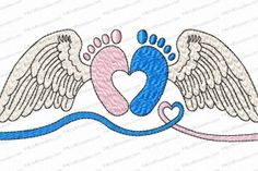 Angel Babies Infant Loss Applique Embroidery Design