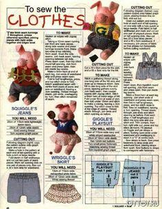 Выкройки поросят. Выкройки свиней. Выкройки свинок. Игрушечная ферма. Как сшить свинью