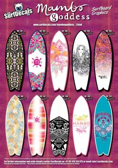 Check out our new Mambo Goddess surfboards.  Pretty pimping.