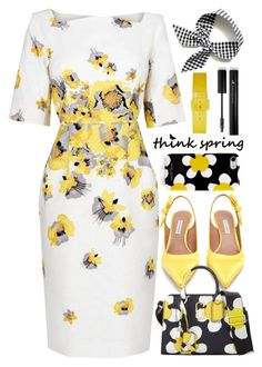 """""""#746 Ergophobia"""" by mayblooms ❤ liked on Polyvore featuring Tabitha Simmons, Marc Jacobs, Forever 21 and springdresses"""