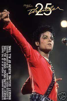"MICHAEL JACKSON POSTER ""THRILLER"" 25TH ANNIVERSARY ""LICENSED"" BRAND NEW - http://www.michael-jackson-memorabilia.co.uk/?p=7760"
