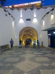 Tunnel, old town Albufeira, Algarve . Portugal Destinations, Portugal Travel, Spain Travel, Algarve, Las Azores, Albufeira Portugal, Portugal Holidays, Portuguese Culture, Toronto Canada