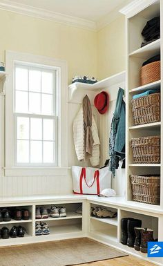 "Check out our internet site for even more details on ""laundry room storage diy budget"". It is actually a superb spot to read more. Corner Closet Organizer, Closet Storage, Mudroom Laundry Room, Laundry Room Organization, Laundry Storage, Diy Organization, Diy Locker, Room Corner, Decoration"