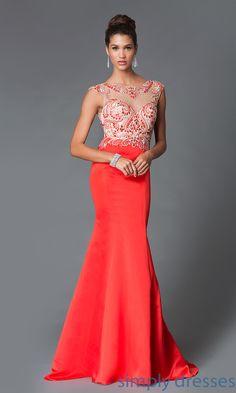 Dress, Long Open Back Cap Sleeve Dress 8177 - Simply Dresses