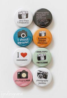 Photographer Flair Button. $6.00, via Etsy.