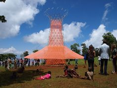 Warka Water's water-collecting tower   Future Makers: in this exclusive movie, Italian architect Arturo Vittori explains how his wooden Warka Water structures can provide clean drinking water for rural communities in the developing world.