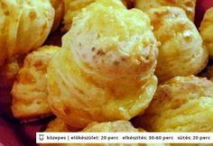 Extra sajtos-túrós pogi | NOSALTY – receptek képekkel Hungarian Cuisine, Savory Pastry, Snack Recipes, Snacks, Nutella, Baked Goods, Bakery, Food And Drink, Favorite Recipes