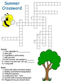 Summer Crossword From DLTK