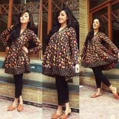 Latest Summer Short Frock Fashion for Girls - Mode Für Alle Simple Pakistani Dresses, Pakistani Fashion Casual, Pakistani Dress Design, Pakistani Outfits, Indian Outfits, Indian Fashion, Kurta Designs, Simple Kurti Designs, Kurti Designs Party Wear