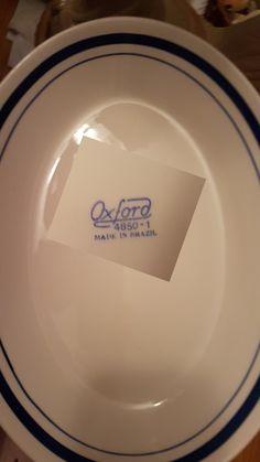 Oxford made in Brazil ,4850-1,  white with dark blue stripes