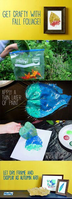 DIY: leaf printing