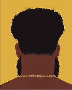 Aesthetic Art, Brown Aesthetic, Black Love Art, Black Man, Kanvas Art, Iphone Wallpaper Music, Creative Instagram Photo Ideas, Black Artwork, Hippie Art