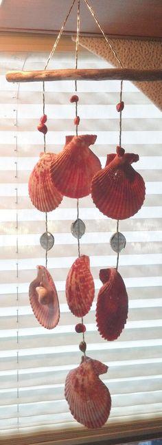 Sea Shell Wind Chime 27 / Suncatcher w/Crystals & Umboniums via Etsy