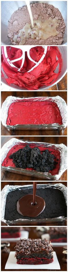 Red Velvet Oreo Truffle Brownies