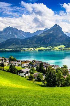 St. Wolfgang in Salzkammergut, Austria. Definitely somewhere I want to travel…