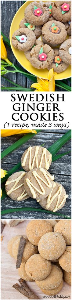 you really can't stop eating these! Great for gift-giving too and you can use 1 recipe to make to make 3 different styles of cookies! Cookie Desserts, Cookie Recipes, Baking Recipes, Dessert Recipes, Cooking Cookies, Swedish Recipes, Sweet Recipes, Cant Stop Eating, Scandinavian Food
