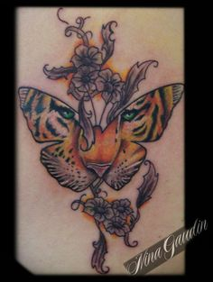 ... Butterfly Tattoo on Pinterest | Butterfly Tattoos Tiger Tattoo and