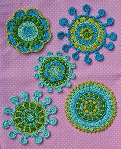 : SPOKE & PICOT MOTIFS - crochet pattern