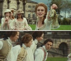 The Duchess. Starring: Keira Knightley as Georgiana Cavendish, Duchess of Devonshire and Dominic Cooper as Charles Grey, Earl Grey. Period Movies, Period Dramas, I Movie, Movie Stars, Georgiana Cavendish, Movie Workouts, The Duchess Of Devonshire, Dominic Cooper, The White Princess