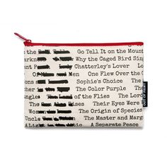 Read a Banned Book FOR A CHANGE  Banned Books canvas literary pouch  #bannedbooks #bannedbooksweek #freedomtoread