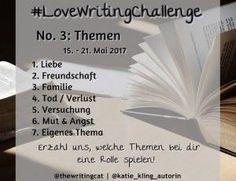 #LoveWritingChallenge: Themenwoche Schreibthemen