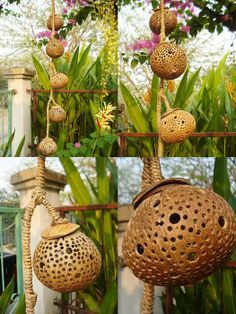 coconut+shell+lamps | Details about 5 Ball Coconut Shell Lamp Night Light Garden Light Hand ...